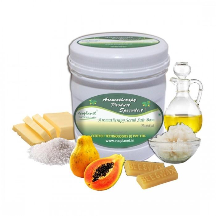 scrub salt base papaya