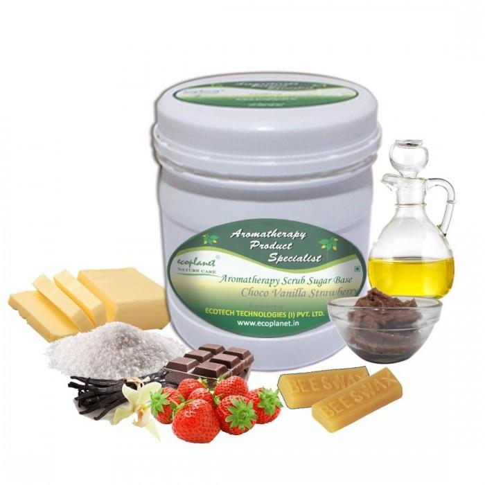 scrub sugar base choco vanilla strawbeery