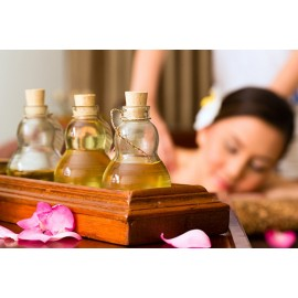 Aromatherapy Massage Oil with Sensual Properties