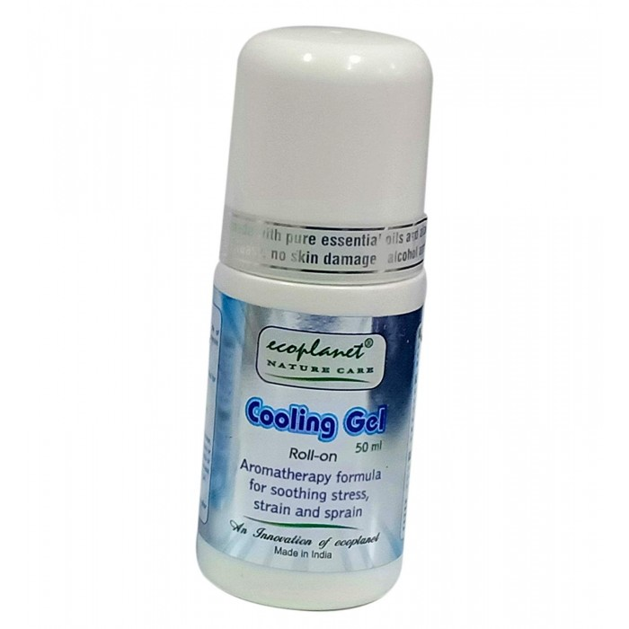 ecoplanet aromatherapy cooling gel with pain relief properties 50 g roll-on