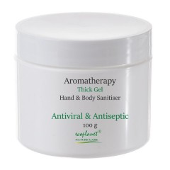 aromatherapy hand and body sanitiser thick gel 100 g